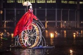 June 2009 Fous de Bassin, Millwall Dock, Canary Wharf, London, UK