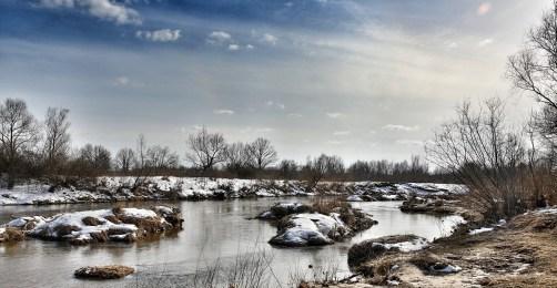 March 2013 Świder River, Otwock, Poland