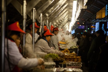 November 2008 Street fast food, central Beijing, China