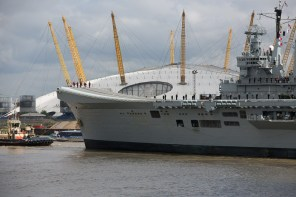 May 2013 HMS Illustrious (R06) Invincible-class light aircraft carrier, River Thames, London