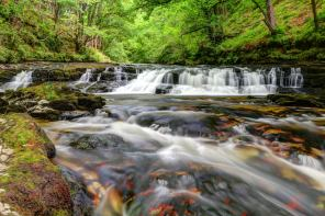 August 2013 Brecon Beacons Waterfalls, Brecon Beacons National Park, Wales, UK