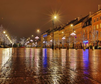 January 2014 Warsaw by night, Warsaw Old Town, Warsaw, Poland