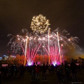 November 2014, Millwall Park Fireworks, Isle of Dogs, London, UK