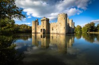 October 2017, Bodiam Castle, Robertsbridge, East Sussex, England, UK