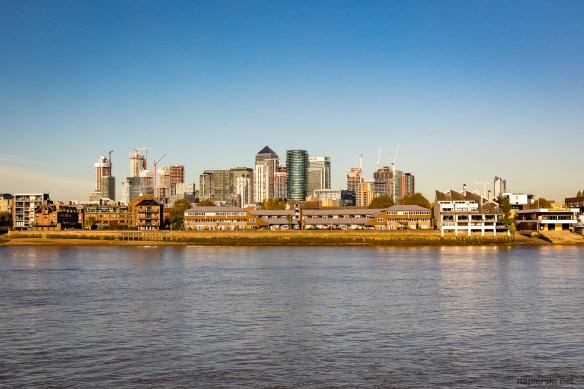 November 2018, Canary Wharf from Greenwich, London, UK