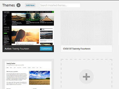 showing-the-wordpress-child-theme