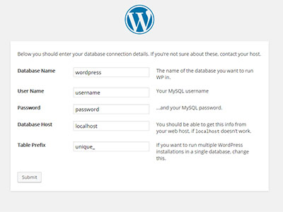 security-WordPress-install