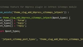 xml sitemap support for custom post type using jetpack
