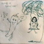 Napkin drawings for lunch boxes