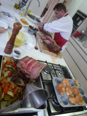 Huge rack of lamb roasted by the amazing Brendan!
