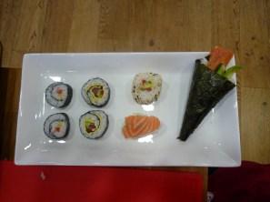 Sushi presentation.