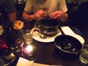 Pot of mussels.