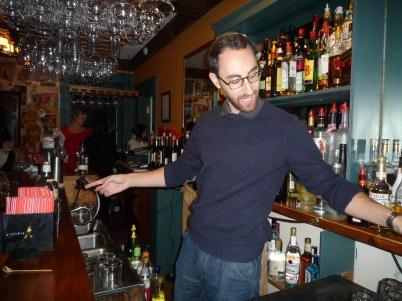 Uh oh! B's behind the bar...