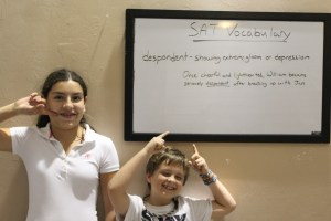 Kids Learning SAT words in Naples Martial Arts Afterschool program