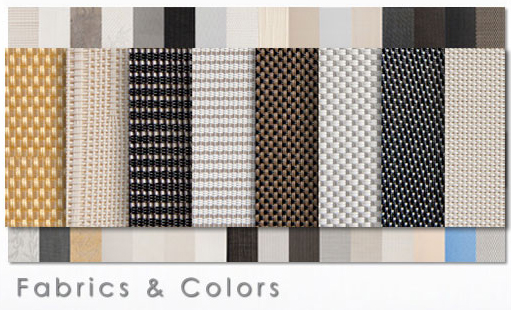 Roller shade fabric and color