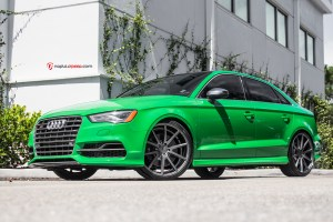 2015 Audi a3, 2015 Audi S3, exhaust, H&R, H&R Sport Springs, H&R Springs, Lowered, milltek, Milltek Exhaust, millteksport, Modified, naples, Naples FL, non-resonated, performance, resonated, sport mode, top 4, valved exhaust, Vossen, Vossen VFS1, vossen wheels, wheels