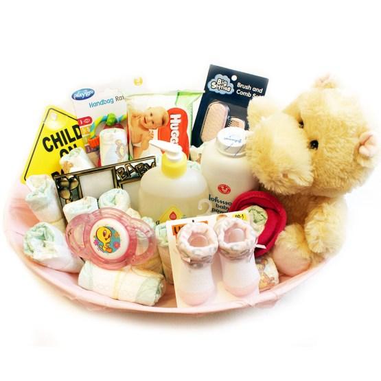 First Class Baby Girls Gift Basket
