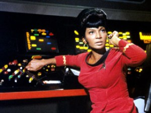 Lt Uhura played by Nichelle Nichols- http://www.startrek.com/database_article/nicholsnichelle