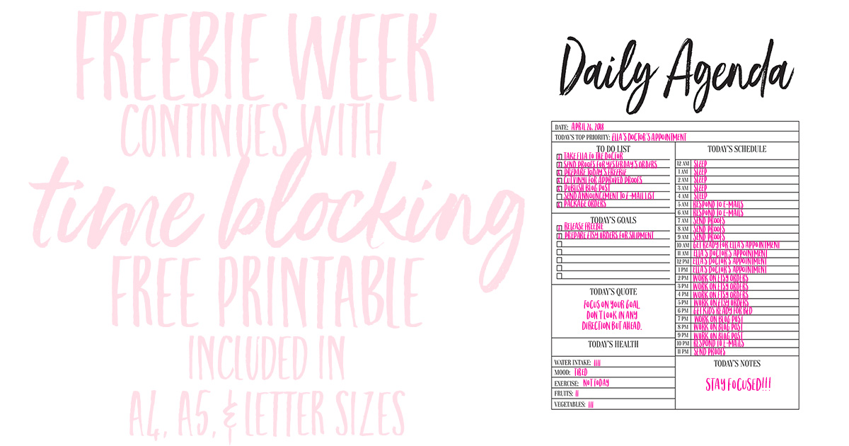 It is an image of Lively Time Blocking Printable