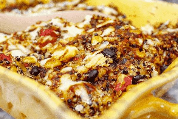 Barbecue Chicken Quinoa Casserole