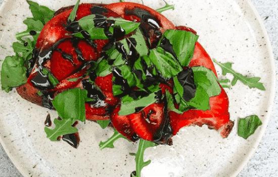 Strawberry Tomato Basil Toast
