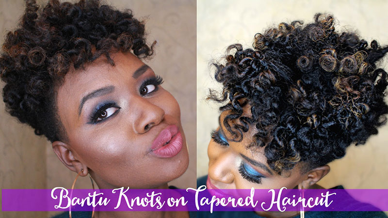 Bantu Knots Tutorial On 4c Tapered Cut Naptural Roots Magazine