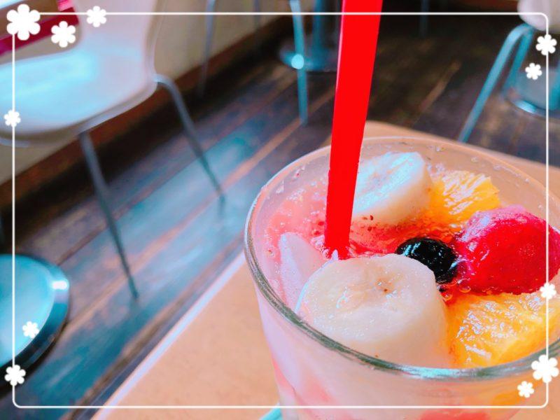 サバスカフェ生フルーツ入りソーダ2