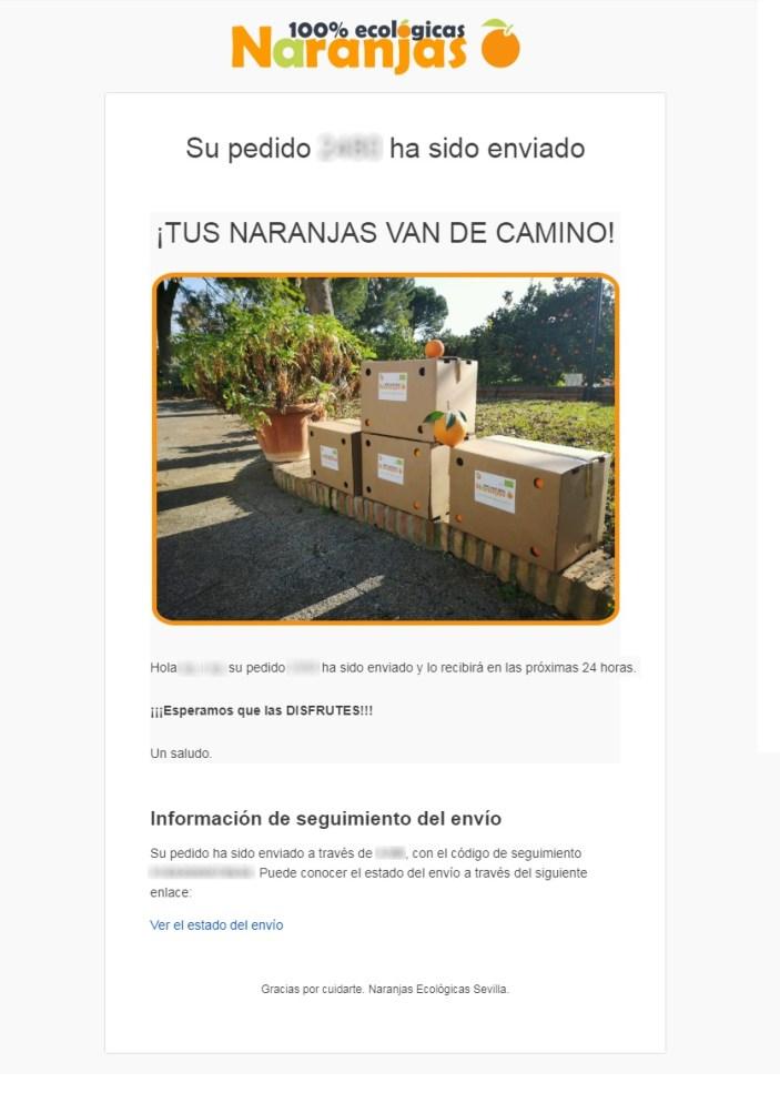 Nuevo Mail envío naranjas ecológicas sevilla