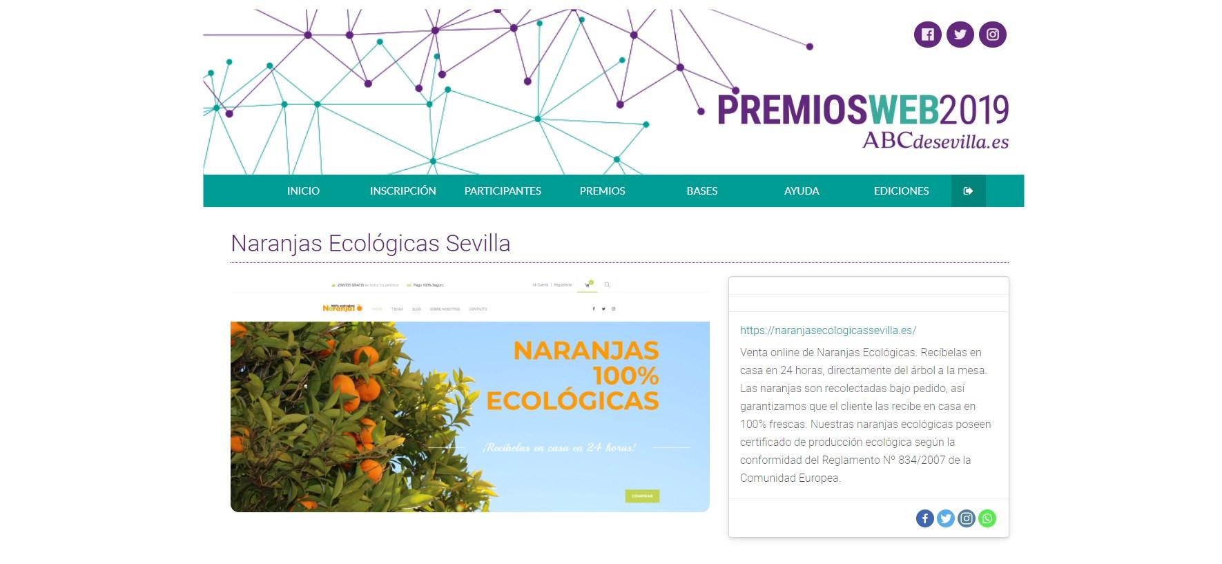 Volvemos a ser pre-seleccionados un año más en los Premios Web organizados por ABC de Sevilla