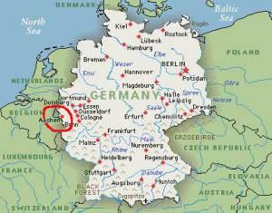Aachen mapa naranja