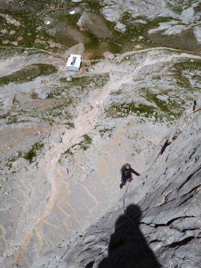 Seb on P5, the refugio already far below