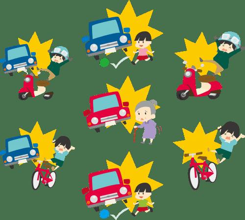 交通事故の画像