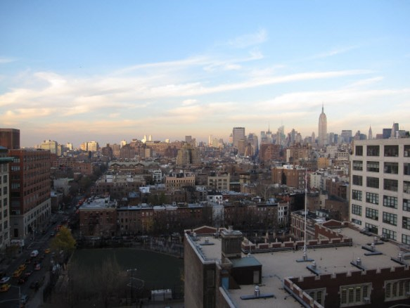 Research Room view of Uptown with the Empire State Building in the right corner.