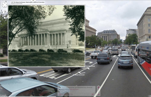 National Archives Building in DC, pinned to the map via Historypin