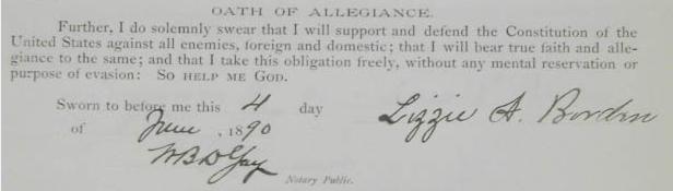 Lizzie Borden signature