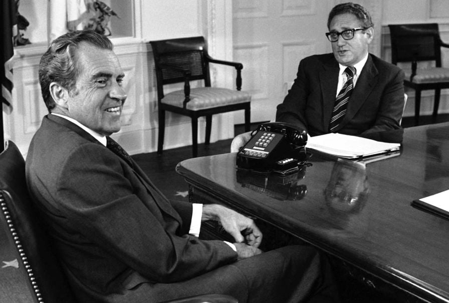 Henry Kissinger played a significant role in getting Donald Trump elected with Russian help, and it's not the first time he betrayed his country for a Presidential nominee.