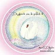 een mandala getekend als cover voor boek de geboorte van de perfecte ik
