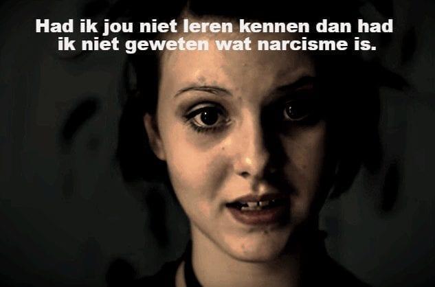 vrouw die zegt had ik jou niet leren kennen dan had ik niet geweten wat narcisme is narcisme.blog VKoN
