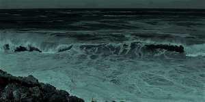 donkere golven over de oceaan