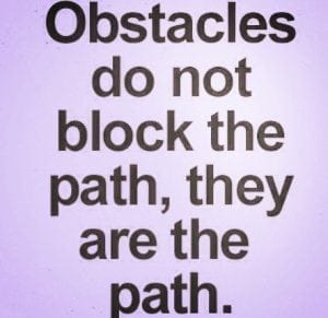 obstacles do not block the path, they are the path narcisme.blog