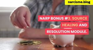spaarvarkentje met geld voor narcisme.blog