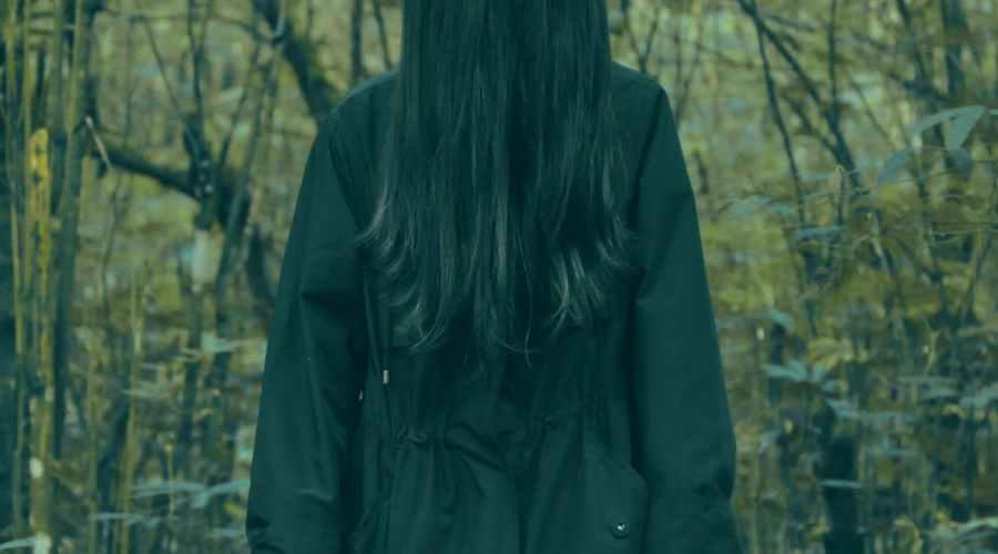 adult black coat conceptual