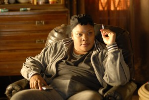 angry mother in precious smoking a cigarette--narcissist mothers on screen