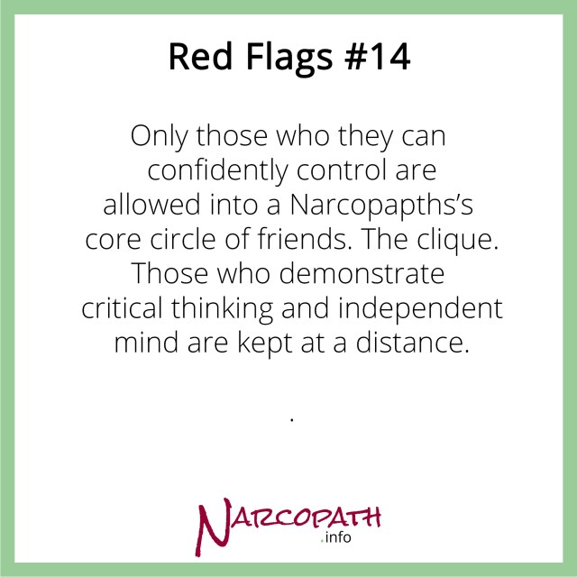 The Narcopath's clique - toxic disciples and flying monkeys