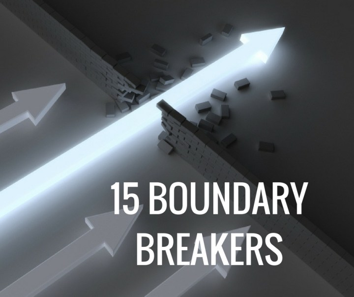 15 BOUNDARY BREAKERS