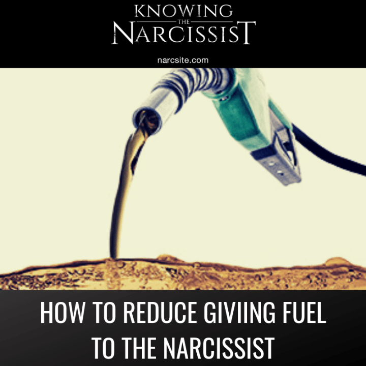 HOW TO REDUCE GIVIING FUEL TO THE NARCISSIST