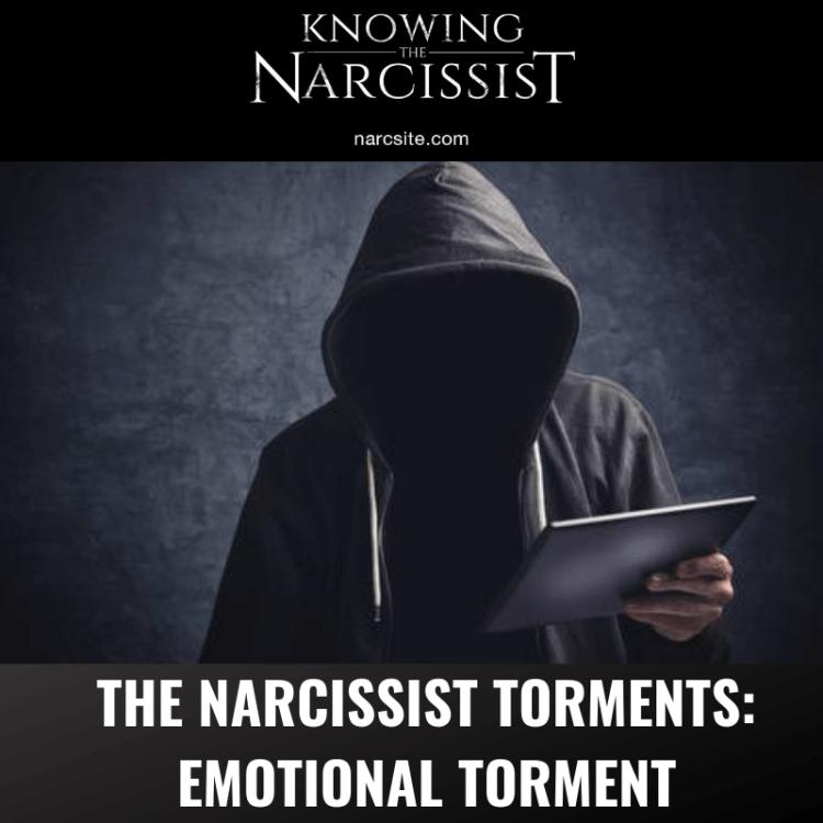 THE NARCISSIST TORMENTS