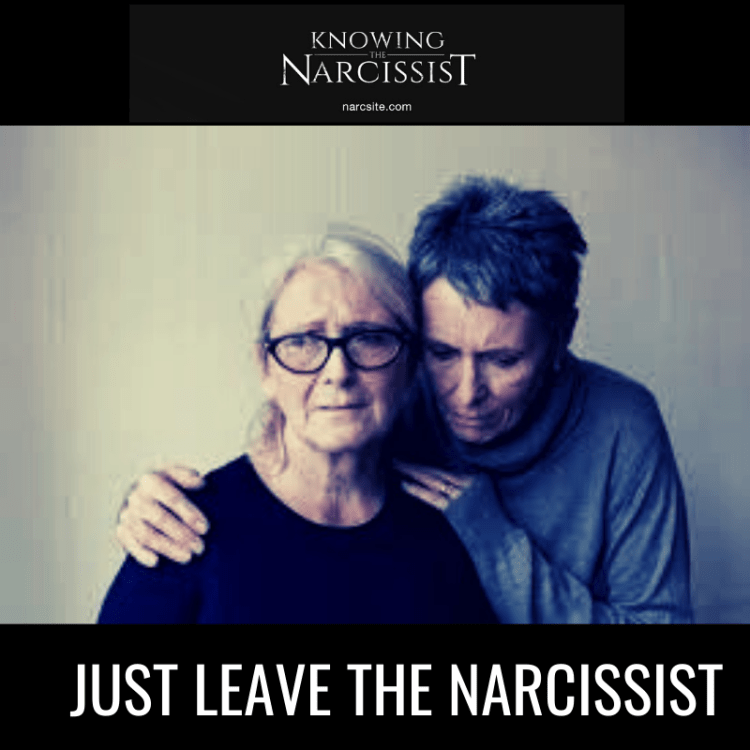 JUST LEAVE THE NARCISSIST