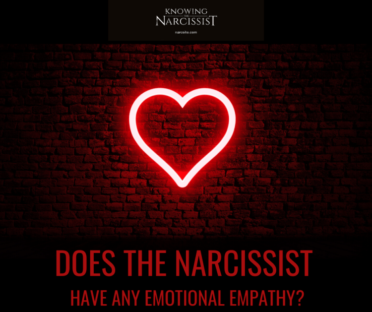 DOES THE NARCISSIST HAVE ANY EMOTIONAL EMPATHY?