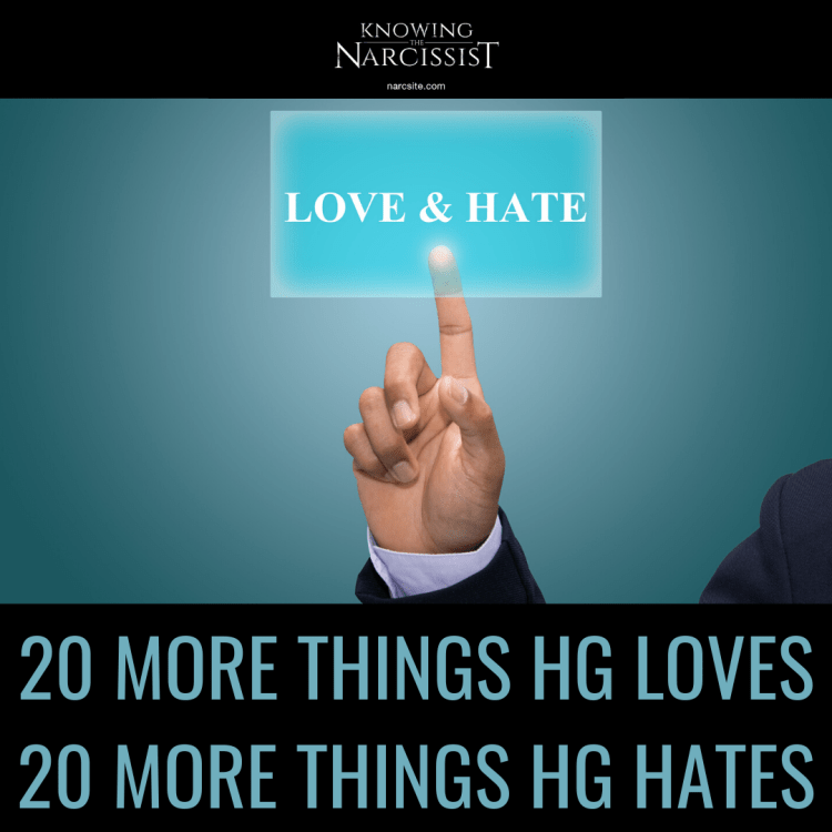 20 MORE THINGS HG LOVES 20 MORE THINGS HG HATES